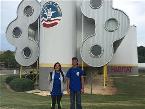 Treyton Kealalio-Puli, Julia Shotwell, and Marely Esquivel attend Space Camp