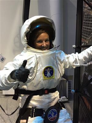 CMS Science Teacher Julia Shotwell participates in Space Camp along with her students for a week this summer.