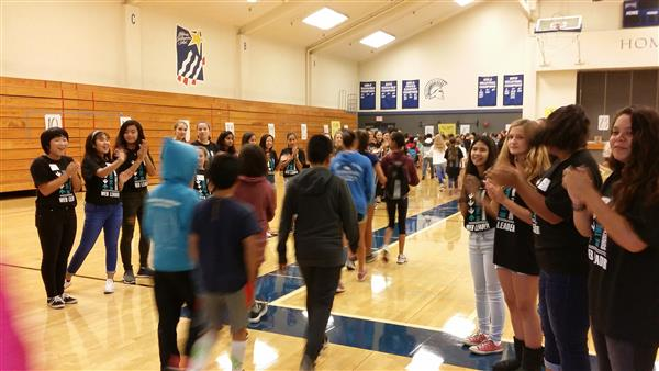 Eighth graders welcome sixth graders at SMS orientation